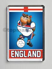 Quality Fridge Magnet, ENGLAND Bulldog Bobby, 1982 Retro Mascot, fun Euro's 2016