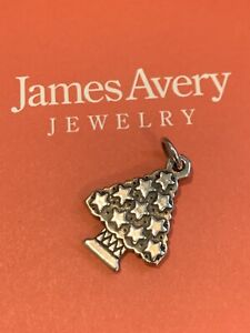 James Avery Christmas Tree Charm RETIRED Uncut Gift Box Excondition