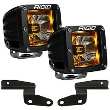 Rigid Radiance A-Pillar LED Lights w/ Amber Backlight for 18-20 Jeep Wrangler JL