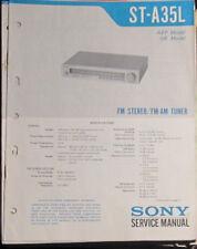 Sony ST-A35L tuner service repair workshop manual (original copy)