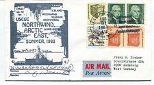 1983 USCGC Northwind WAGB-282 East Summer Thule Polar Arctic East Cover SIGNED