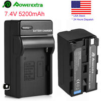 US - 5200mAh Camera Replacement Li-Ion Battery +Charger For Sony NP-F750 NP-F770
