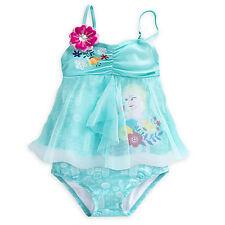 32914f62be8 NWT Disney Store Queen ELSA Swimsuit Frozen 2pc Set UPF 50+ Girls 5 6