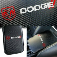 For DODGE Red Embroidery Carbon Center Console Armrest Cushion Pad Cover Mat X1