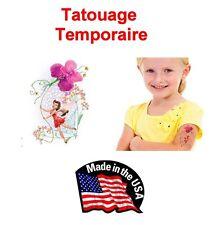 Lot 10 tatouages temporaires fille Disney fée Rosetta avec paillettes tatoo