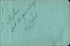 Vintage DEL HILL Autograph - They Were Expendable