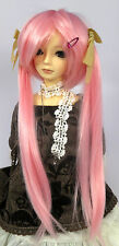 Doll Wig Long Pig Tails Light Pink Miku BJD Ball Jointed Size 7, 8, 9, 10 NEW