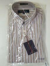 NEW ALEXANDER JULIAN MENS BUTTON UP DRESS SHIRT 15.5 33 Stripe