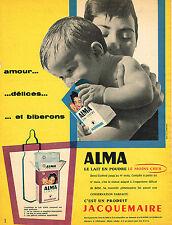PUBLICITE ADVERTISING 124  1959  JACQUEMAIRE   lait bébé ALMA