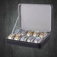 6 10 12 Slot /Grid Watch Box Detachable Jewelry Display Container Storage Holder