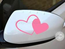 Twin Heart Sticker Car Wing Mirror Vinyl Graphic Decal, Girly Bumper Sticker