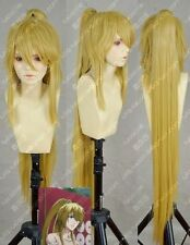 Popular New long Golden Blonde Cosplay Costume Wig +Ponytail