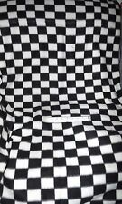 "2 & 7/12 yds BLACK & WHITE CHECK DOUBLE SIDED POLAR FLEECE - 64"" wide"