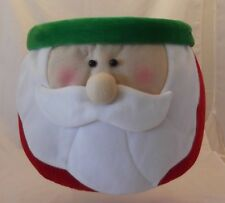 Xlg Santa Head Basket~Xmas~ Display~Plants~Decoration ~Table Top~Rolls