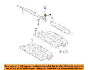 MERCEDES OEM 98-02 CLK320 Interior-Rear-Shade Rivet 0009908592