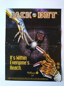 Williams Jack Bot Pinball FLYER Original Artwork Print Sheet 1995 Robots Folds