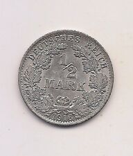 1916-A  Germany Silver 1/2 Mark-- Fabulous Coin !!