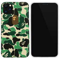 A Bathing Ape Bape ABC Green Camo Cover Case For iPhone 11 Pro Max XS XR X