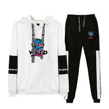 Juice Wrld Sport Suit Ripper Hoodie Sweater Sweatshirt Pullover Jacket w/Pant