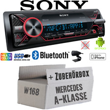 Sony Radio für Mercedes A-Klasse W168  Bluetooth USB  iPhone Android - Einbauset