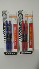 Zebra sarasa gel pens 2 Packs, Red And Blue