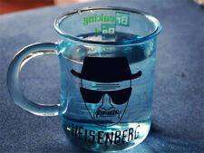 Breaking Bad TV Series Heisenberg Cup Measuring Cup Clear Blue Glass Coffee Mug