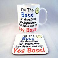 I'm The Boss Funny Novelty Mug - Coaster - Cup - Novelty - Xmas - Gift