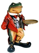 Tuxedo Frog Waiter Statue 2 Ft with Serving Display Old Mr. Toad Butler