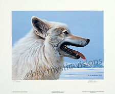 Ron Parker ARCTIC WOLF PORTRAIT Signed & Numbered Limited Edition Fine Art Print