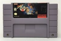 SNES Street Fighter Alpha 2 Video Game Cartridge *Authentic/Cleaned/Tested*