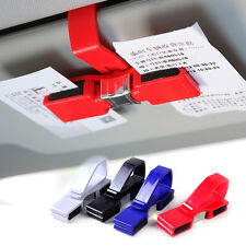 Red Car Sun Visor Sunglasses Eye Glasses Ticket Receipt Card Holder Clip Storage