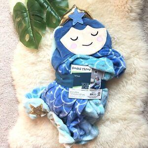 Your Zone Super Soft Fleece Hooded Mermaid Throw - New