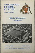 More details for chesterfield v bradford park avenue 1969/70