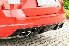 Skoda Octavia vRS 2.0 TDi RIEGER Rear Bumper Insert / Diffuser  - Gloss Black