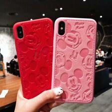 Funda Cuero de PU Mickey Mouse Carcasas PARA iPhone 11 PRO XS MAX XR 8 7 6 Plus