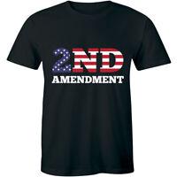 The 2nd Amendment Shirt Is My Gun Permit American Flag Men's T-shirt Tee