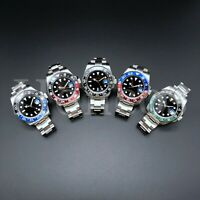 GMT Style Men's Pro Diver 40mm Silver Stainless Steel Watch Pepsi Coke Batman