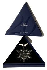 Swarovski Christmas Snowflake Ornament 2011 Mint Both Boxes