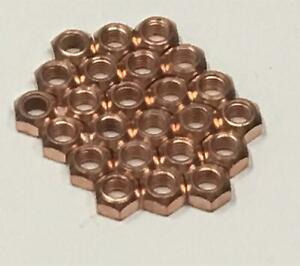 25x M8 Copper Flashed Exhaust Manifold 8mm Nut - High Temperature Nuts