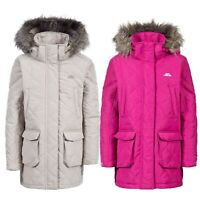 Trespass Reep Girls Quilted Casual Jacket Longer Length Hooded Padded Coat