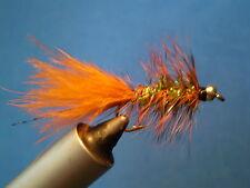 New listing Steelhead/Salmon/Trout Wooly Bugger #6, Burnt Orange/Olive Qty 3
