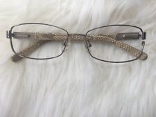 Tory Burch RX Eyeglasses TY 1018 117 Beige Snake Frame [53-16-135] For Parts