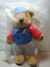 Montreal Expos Baseball (MLB) Plush Bear Leather type Material Jacket/Cap NIP