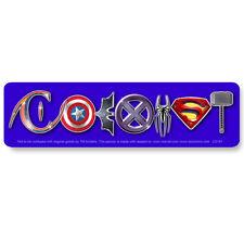 CS191 - ComiCoexist Parody Color Bumper MAGNET Superman Batman Spiderman Sticker