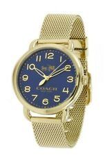 Coach Delancey Ladies Analog Watch Fashion Gold Band 14502665