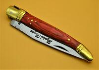 Taschenmesser-Laguiole-Klappmesser-Jagdmesser-Edelstahl-Holzgriff - 22cm- (NKM9)