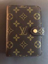 Authentic Louis Vuitton Brown Monogram Canvas Small Ring Agenda Cover