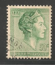 Luxembourg #365 (A86) Vf Used - 1960 50c Grand Duchess Charlotte