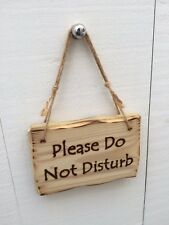 Handmade Rustic Wooden Please Do Not Disturb Office Hotel Bed Bath Room Sign