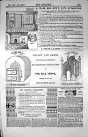 Old Adverts Bath Apparatus Gill Stove Sheffield London Parquetry 1853 Victorian